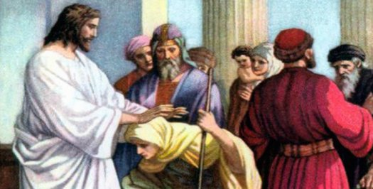 Jesús-sana-a-una-mujer-encorvada
